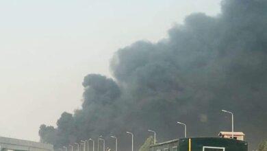 Photo of حريق هائل إثر انفجار خط مازوت بطريق مصر الإسماعيلية الصحراوي