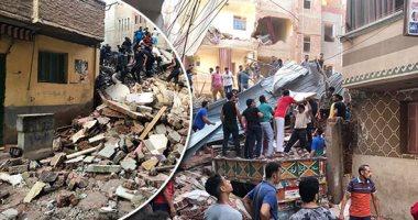 """Photo of استخراج 8 جثث حتى الآن من أسفل أنقاض عقار المحلة المنهار """"بالأسماء"""""""