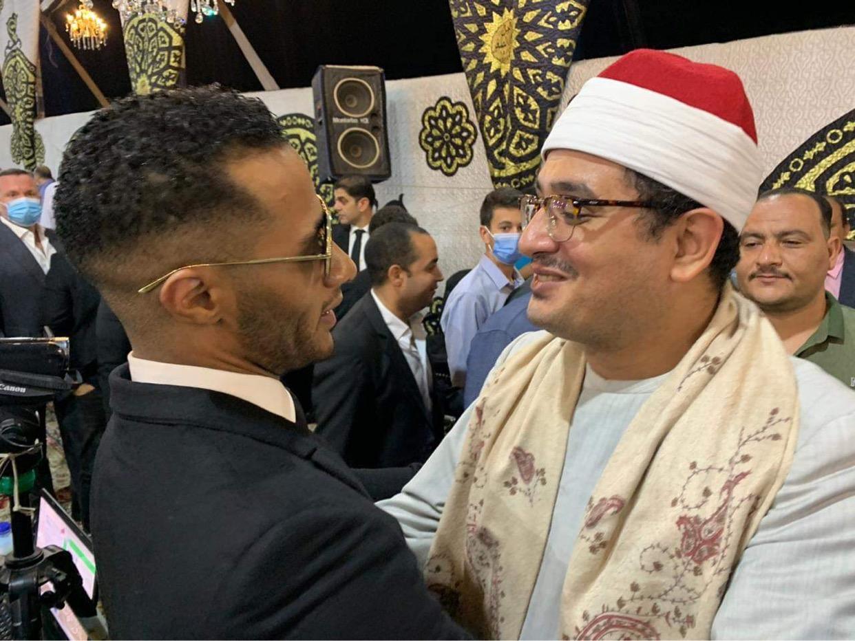 كواليس حوار محمد رمضان والشيخ محمود الشحات أنور