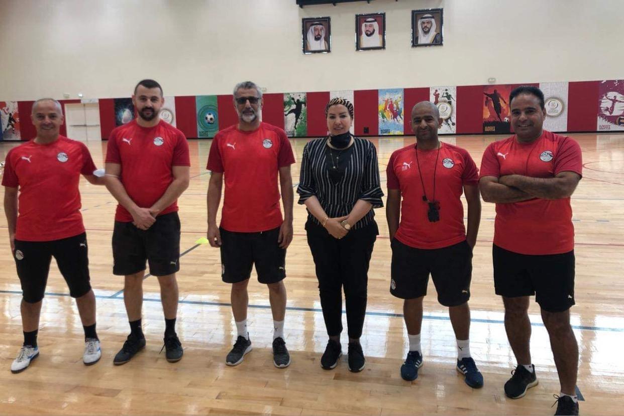 منتخب الصالات يؤدي تدريباته استعدادا للقاء الإمارات