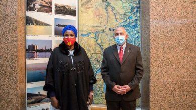 "Photo of ""عبد العاطى"" يستقبل ""أروب"" وزيرة الثقافة والمتاحف بـ جنوب السودان"