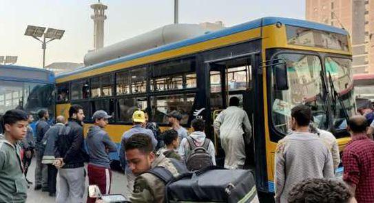 تصادم أتوبيسي نقل عام وشلل مروري فـ الجيزة