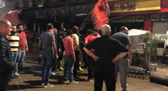 إندلاع حريق في شارع البحر بـ المحلة