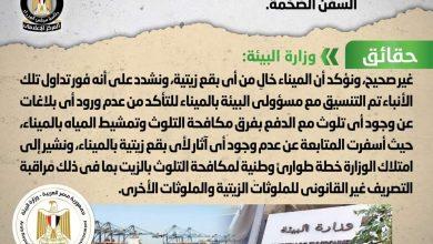 Photo of حقيقة تلوث ميناء الإسكندرية نتيجة تسرب بقع زيتية من السفن الضخمة