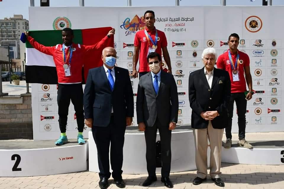 صبحي يكرم الفائزين لمنافسات تارجت سبرنت ضمن البطولة العربية للرماية