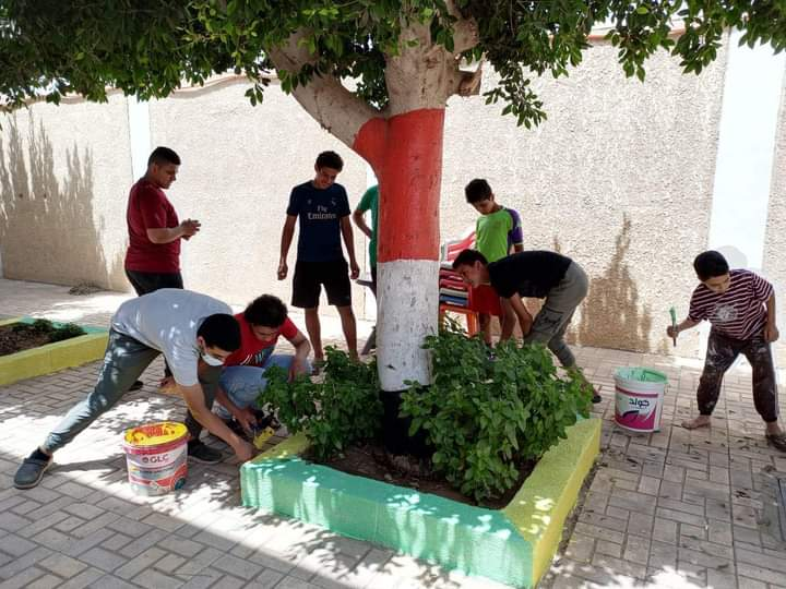 """التعليم المدني بـ القليوبية يطلق مبادرة """"شخابيط لتجميل مراكز الشباب"""""""