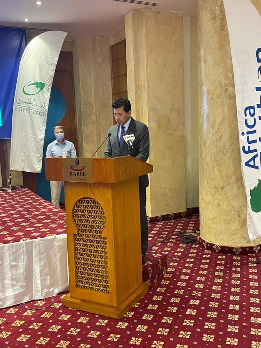 صبحي يشهد الجمعية العمومية للاتحاد الإفريقي للتراثيلون بشرم الشيخ