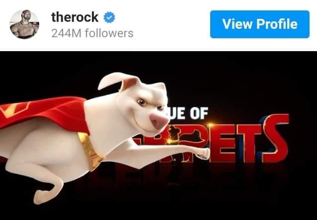دواين جونسون يعلن عن طاقم عمل DC League of Super-Pets