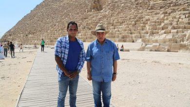 Photo of زاهي حواس يلتقي ببطل التنس أنور الكموني ويؤكد الأمل هو من بني الأهرامات