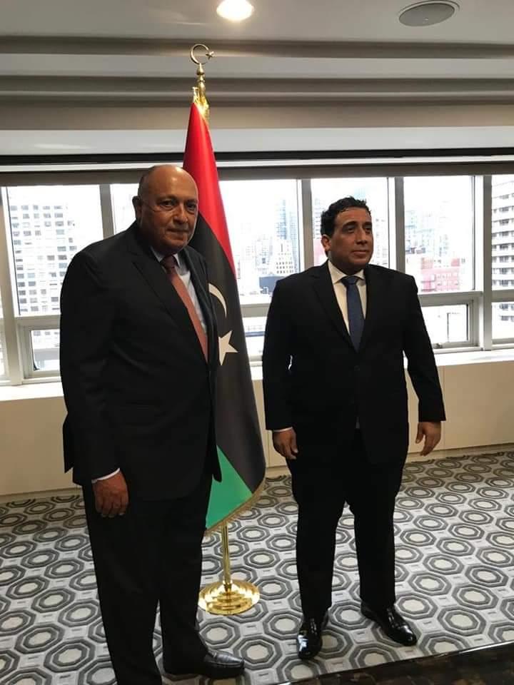 شكري يلتقي رئيس المجلس الرئاسي الليبي