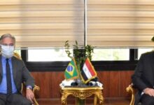Photo of منار يلتقى سفير البرازيل بـالقاهرة