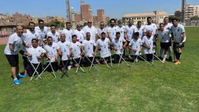 "Photo of محمد عادل حسني يؤازر منتخب الكرة ""للمبتورين"" خلال معسكر الإعداد للبطولة الإفريقية"
