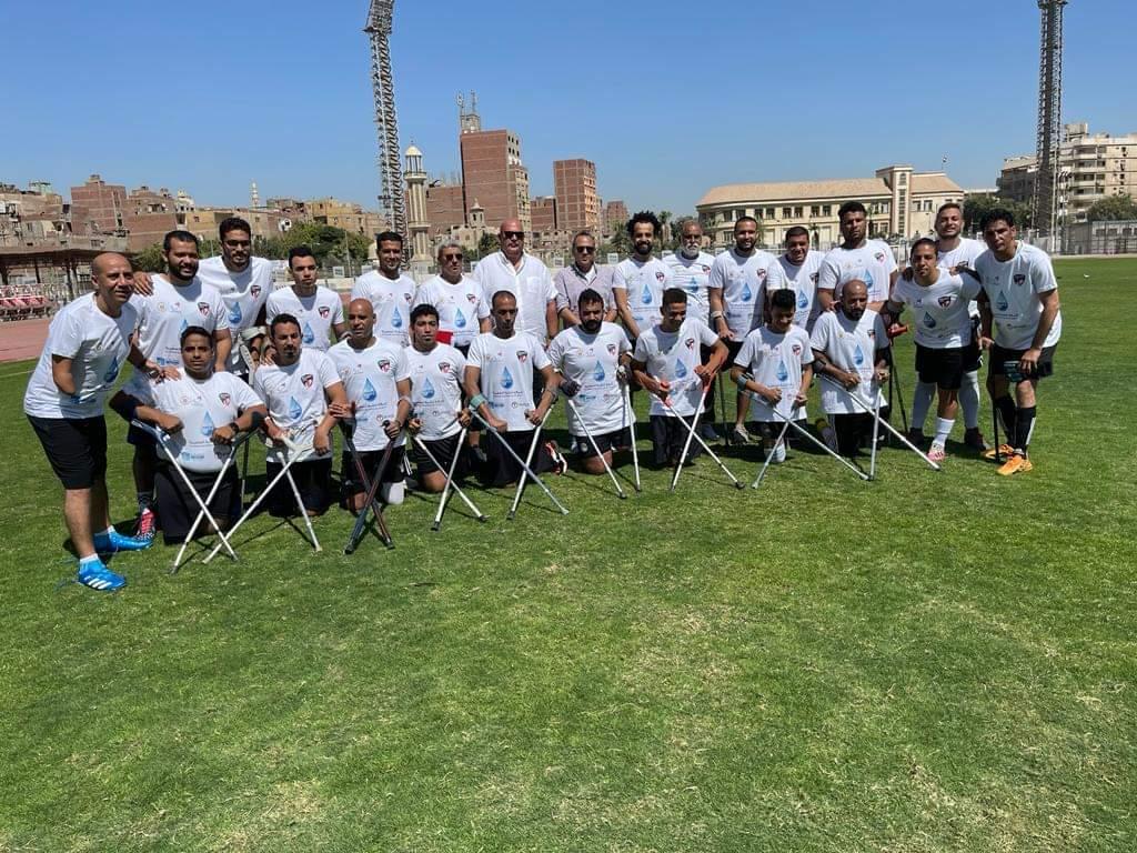 """محمد عادل حسني يؤازر منتخب الكرة """"للمبتورين"""" خلال معسكر الإعداد للبطولة الإفريقية"""