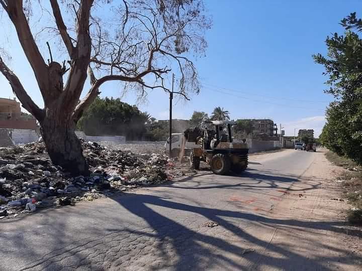 الانصاري رفع 10 آلاف طن قمامة وإزالة 594 حالة إشغالات متنوعة بمراكز الفيوم وسنورس واطسا