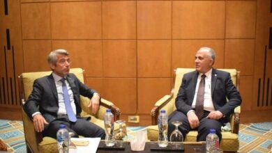 Photo of عبد العاطى يلتقى وزير المياه والطاقة اللبنانى ونائب وزير المياه والبيئه والزراعه السعودي