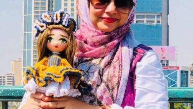 Photo of نجلاء عبد الحميد تتفنن في تصميم الشخصيات المؤثرة بالخيط